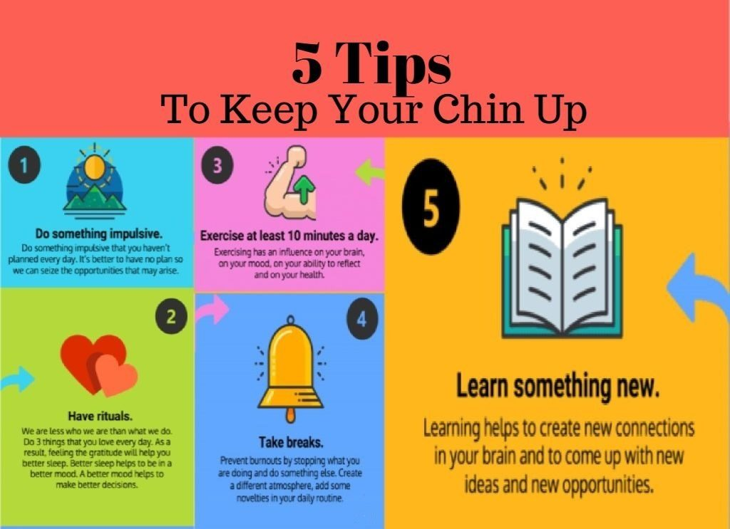 5 Tips To Keep Your Chin Up