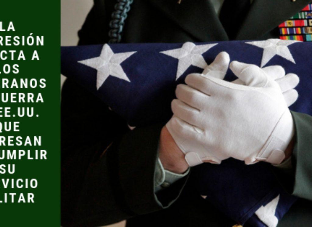 La depresión afecta a los veteranos de guerra de EE.UU. que regresan de cumplir su servicio militar