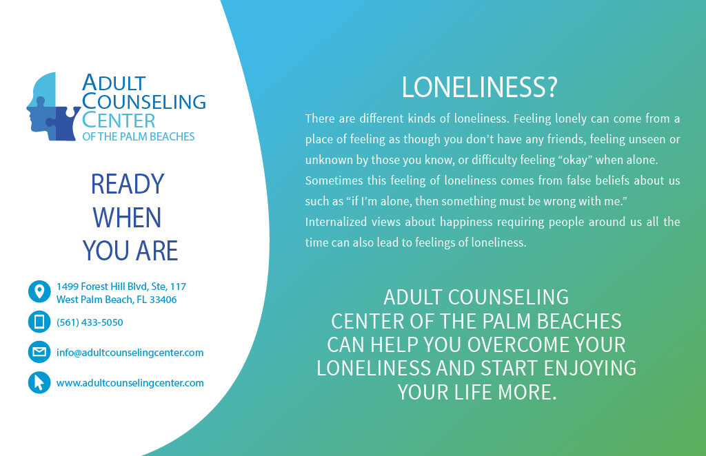Adult Counseling Center can help you overcome your loneliness