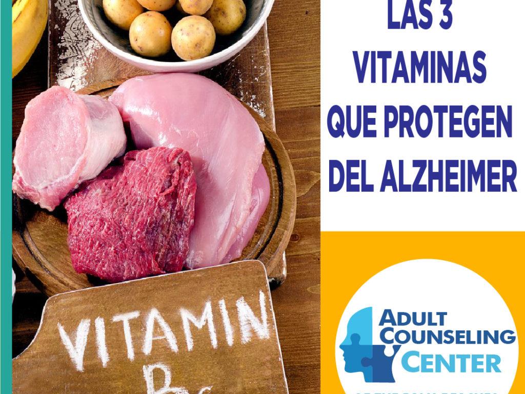 Las 3 vitaminas que protegen del Alzheimer