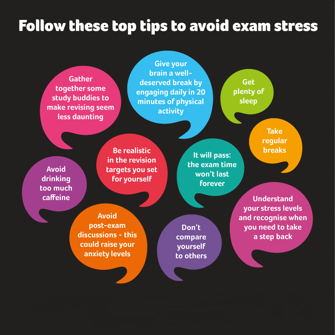 Follow these top tips to avoid exam stress