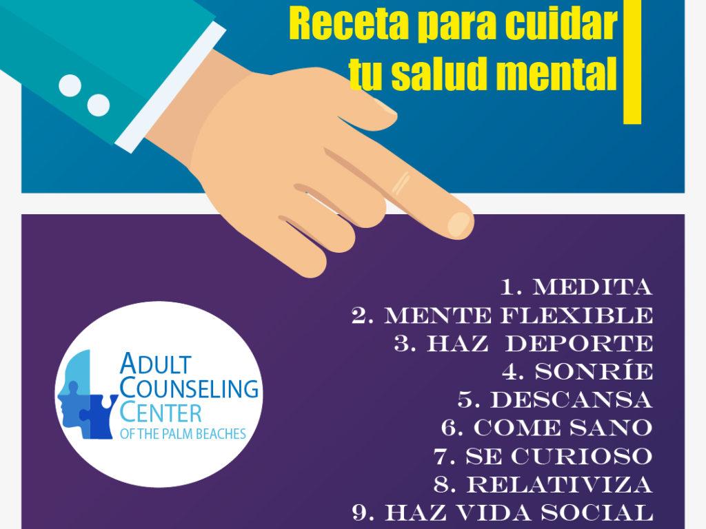 Receta para cuidar tu salud mental