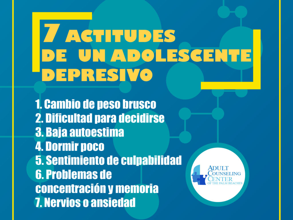 7 actitudes de un adolescente depresivo